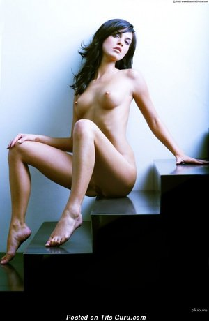 Nude amazing female with medium natural tots image