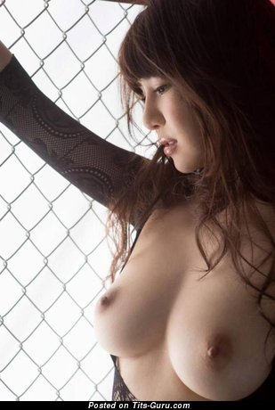 Image. Naked asian brunette with medium breast picture