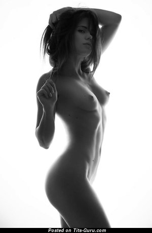 Image. Nude awesome female with natural tots photo