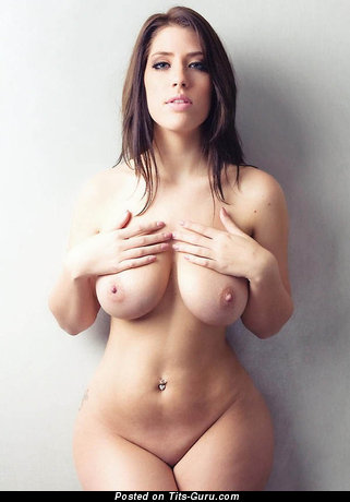 Image. Sexy nude brunette with big natural breast picture
