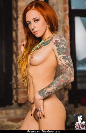 Jane Sinner - naked nice girl with piercing and tattoo image