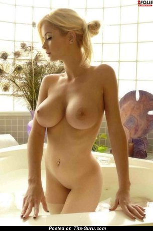 The Best Blonde with The Best Bare Mega Boobies (Hd Sex Photo)