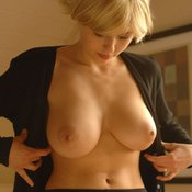 Beautiful woman with big natural breast photo