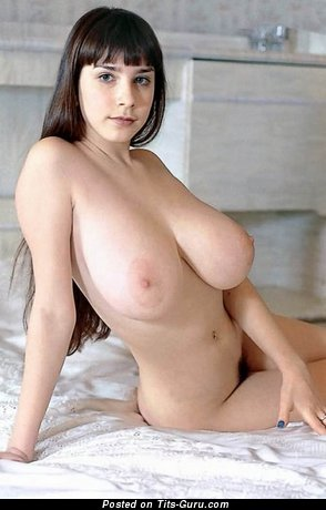 Image. Naked beautiful girl with huge natural boobs picture
