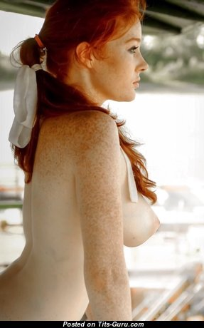 Dominique - Charming Red Hair Babe with Charming Open Real Soft Hooters (18+ Photoshoot)