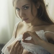 Wonderful girl with natural breast image