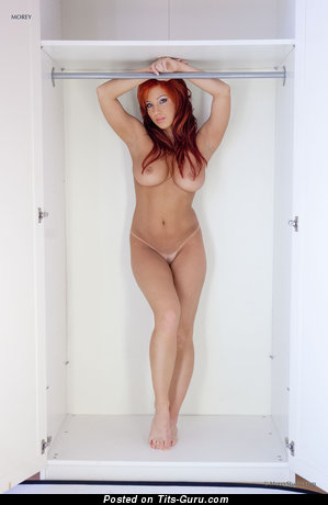 Image. Ashley Robbins - sexy naked red hair with big natural tits and big nipples picture
