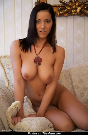 Image. Angel Dark - amazing female with medium natural boobies picture
