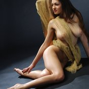 Awesome woman with natural boobs image