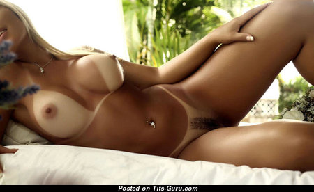 Adorable Blonde with Adorable Exposed Medium Sized Titty & Tan Lines (Hd Sex Photoshoot)