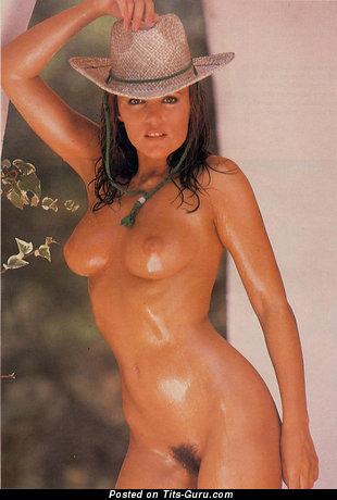 Carol Needham - Stunning Wet Brunette Babe with Stunning Naked Real Short Boobys (Vintage Hd Sex Pix)