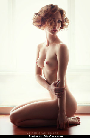 Image. Nude amazing girl with medium natural boob picture