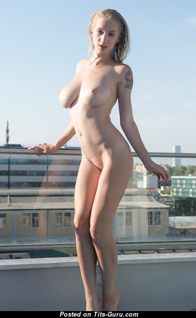 Good-Looking Babe with Good-Looking Bald Real Boobys (Hd Porn Pic)