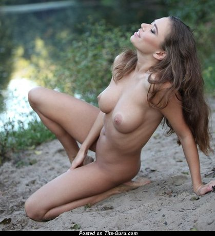 Image. Naked nice girl with medium natural tittes photo