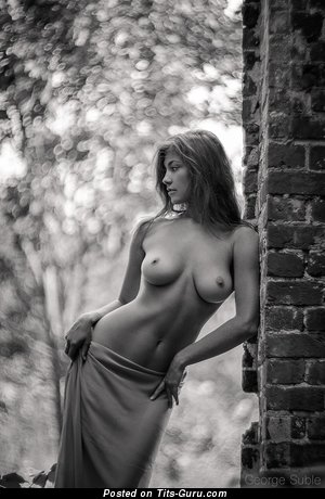 Sexy nude awesome lady with natural boobies image