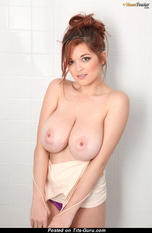 Tessa Fowler - Grand Topless American Red Hair Babe with Grand Open Natural Tremendous Breasts & Inverted Nipples (Hd 18+ Photoshoot)