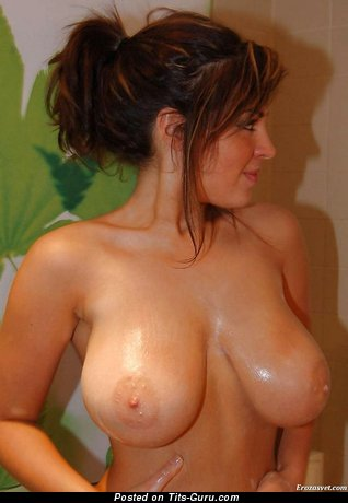 Image. Naked awesome girl with natural boob photo