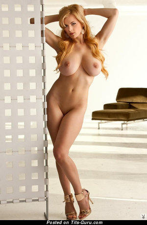 Sasha Bonilova - Alluring Ukrainian, American Playboy Blonde Babe with Alluring Bare Natural Sizable Melons (Sex Pix)