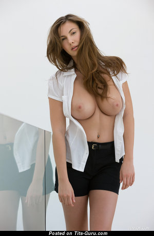 Conny Carter - sexy topless wonderful woman with medium natural breast photo
