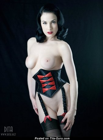 Image. Dita Von Teese - nice girl with medium natural breast photo