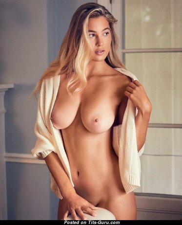 Sexy naked amazing female with natural boob image