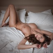 Red hair with big natural breast photo