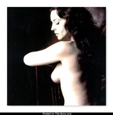 Monica Bellucci - sexy naked brunette with medium natural boobies image