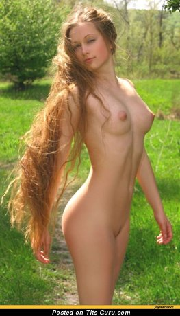 Image. Naked wonderful lady with medium natural tits picture
