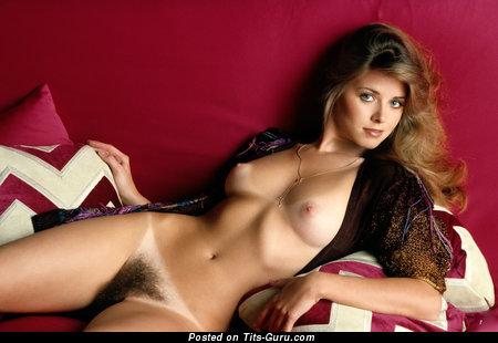 Image. Nude brunette with medium tittys vintage