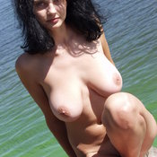 Arina - beautiful woman with big natural tittes photo