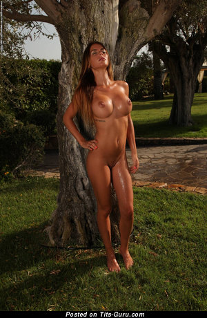 Image. Nude latina brunette with fake boob picture