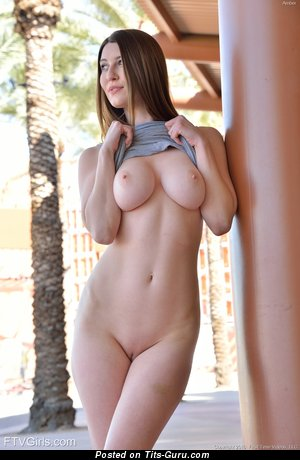 Image. Hot woman with natural breast image