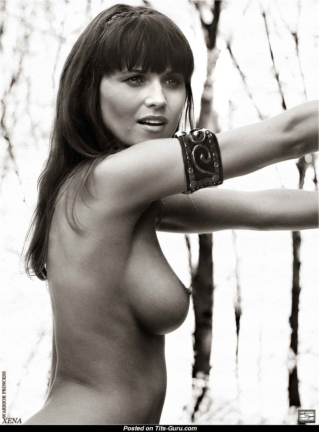 Lucy Lawless Naked Asian Blonde With Medium Natural Tittys Photo