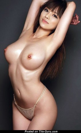 Image. Sexy topless asian with medium boobies image