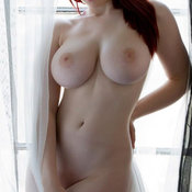 Nice woman with huge tittes photo