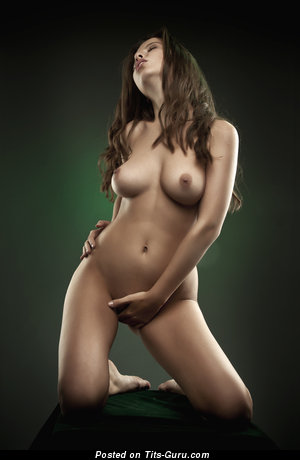 Image. Naked hot lady with medium natural boob image
