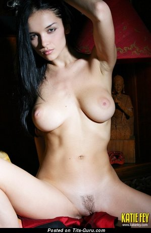 Jenya D - naked beautiful female with medium natural tits pic