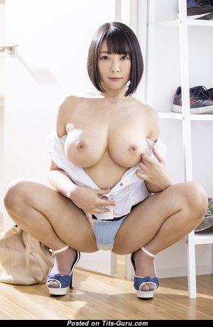 Arisa Hanyu - Nice Topless Asian Brunette Actress & Pornstar with Nice Bare D Size Boob & Enormous Nipples (Hd Sex Wallpaper)