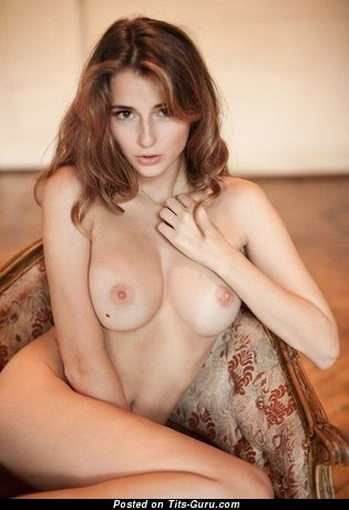 Image. Nude hot lady with medium natural boobies image