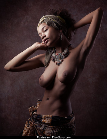 Image. Zalia Fender - ebony with big natural tits image