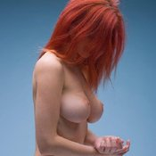 Red hair with big natural tittys photo