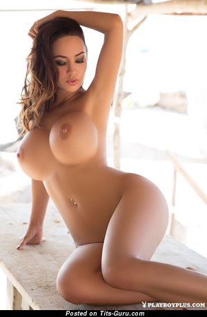Wonderful Playboy Brunette Babe with Wonderful Open Silicone Dd Size Tittys (Xxx Image)