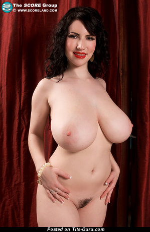 Image. Karina Hart - sexy topless brunette with big boobies and big nipples picture