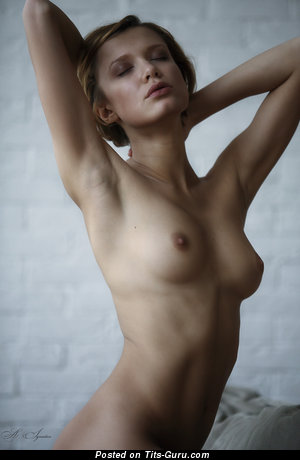 Image. Nude wonderful lady with medium natural tots pic
