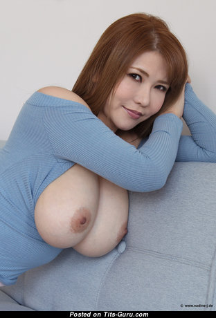 Anri Okita - Pleasing Topless Japanese, British Brunette Pornstar with Pleasing Exposed Real Medium Sized Boobys & Giant Nipples is Undressing (Hd Porn Image)