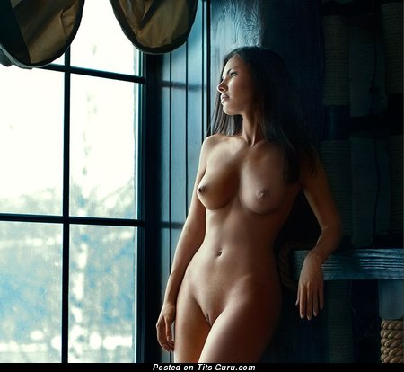 Image. Nude amazing female with medium natural boob image