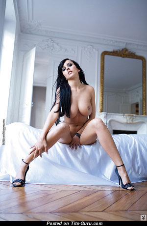 Fascinating Playboy Chick with Fascinating Nude Natural Ddd Size Boobies (Hd Porn Foto)