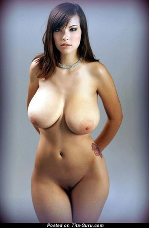 Image. Wonderful female with huge natural tittes pic