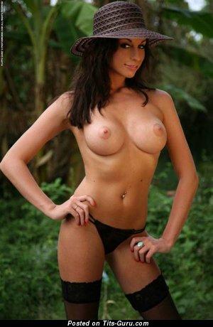 Image. Nude hot lady with medium tits photo