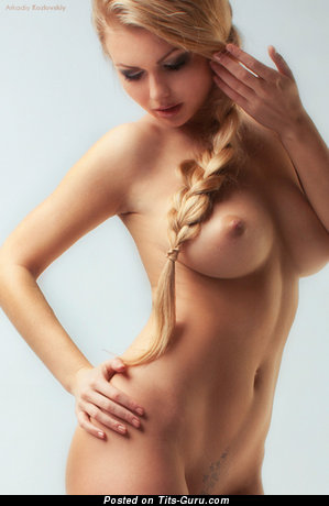 Delightful Blonde with Delightful Naked Real Boobys (Sexual Picture)
